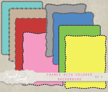 Frames with Colored Background Set 4
