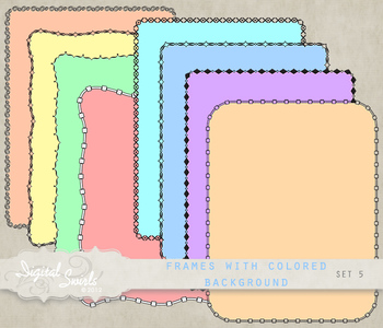 Frames with Colored Background Set 5