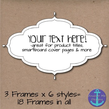 Frames with Stitched Borders in white and with Transparent Backgrounds