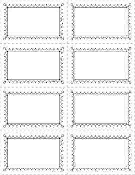 Frames/Templates for Center Cards or Task Cards!