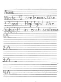 Framing Your Thoughts - Sentence Writing