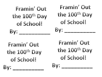 Frammin' Out the 100th Day of School