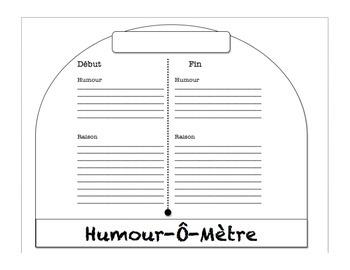 Français - Humour-Ô-Mètre, a Reading Response Activity