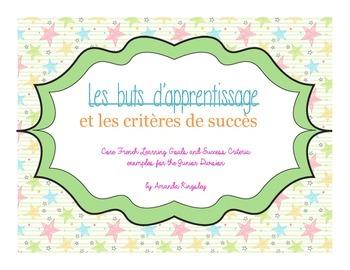 Français - Learning Goals and Success Criteria