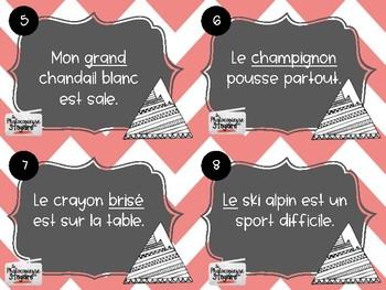 Français // Cartes à tâches: Classes de mots dans le GN