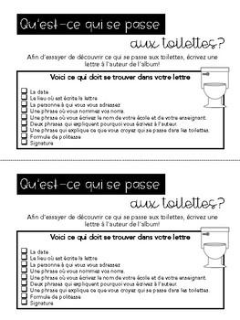 Français // Modèle d'écriture d'une lettre