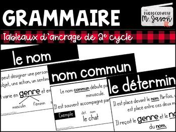 Français: Tableaux d'ancrage // 2e cycle