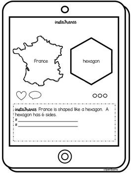 France Country Study {Interactive Social Studies Notebook} Instagram