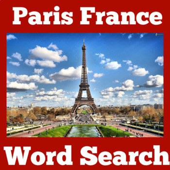 France Activity | France Symbols | France Word Search