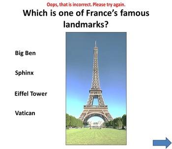 France - PowerPoint presentation - Quiz
