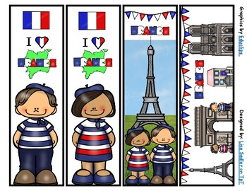 France Bookmarks -  4 Designs
