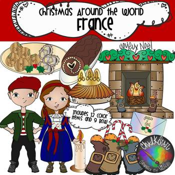 Christmas Around the World - France Clipart