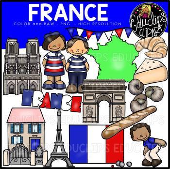 France Clip Art Bundle {Educlips Clipart}