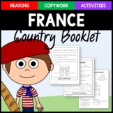 France Copywork, Activities, and Country Booklet