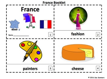 France Emergent Reader Booklets - French Culture