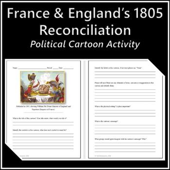 France & England's 1805 Reconciliation Political Cartoon Activity