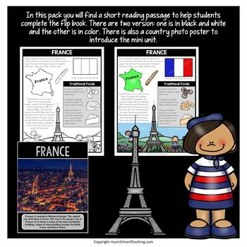 France Country Study: A Mini-Unit & France Flip Book