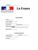 France Geography Note Sheet