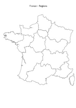 France Map With Regions.France Map Regions By Mrfitz Teachers Pay Teachers