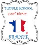 France MiddleSchool Unit Study