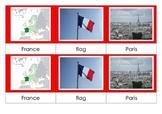 France - Montessori Nomenclature Cards