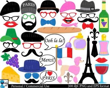 France Paris Props - Digital Clip Art Personal, Commercial Use 118 images cod188