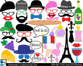 France Paris Props - Digital Clip Art Personal, Commercial