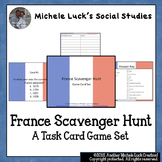 France Scavenger Hunt Task Card Game Activity - French Geography or Facts Study