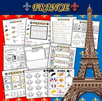 France Themed Activity Set