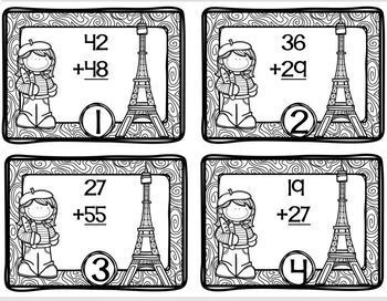 France Themed Math Station