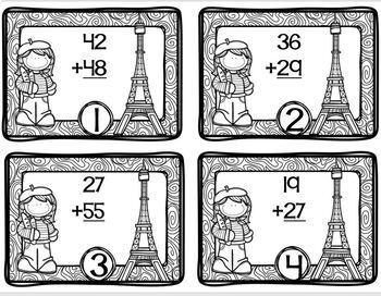 France Themed Math Station