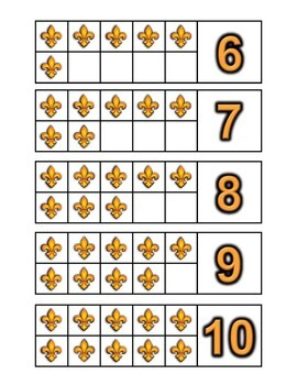 France Themed Number Counting Activities