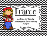 France Unit ~ Featuring Non-fiction Passages and Comprehension Pages