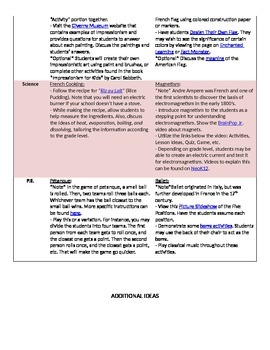 France Unit Study Lesson Plans for Elementary