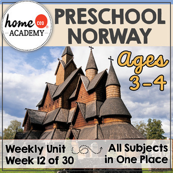 Norway - Weekly Preschool Curriculum Unit for Preschool, PreK or Homeschool