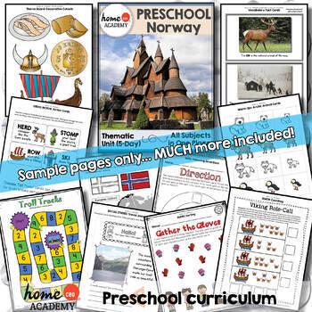 Norway - Weekly Preschool Curriculum Unit for Preschool, PreK or Homeschool