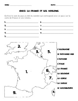 France and Bordering Countries: Formative Assessment