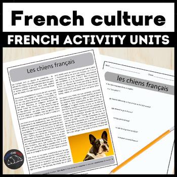 France cultural readings & activities bundle