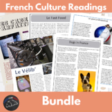France cultural readings & activities bundle
