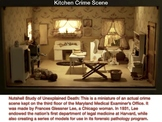 Frances Glessner Lee - Q & A for 3 Diorama Crime Scenes - FREE