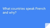 Franch Speaking Countries