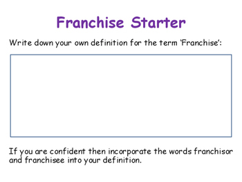 Franchises / Franchising - Pros & Cons of Using a Franchise - Business Studies