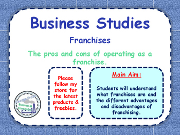 Franchises / Franchising - Pros & Cons of Using a Franchis