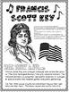 Francis Scott Key Biography for Kids Star Spangled Banner lyrics Task Cards