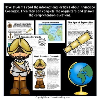Early Explorers: Francisco Coronado Complete Unit with Articles & Activities
