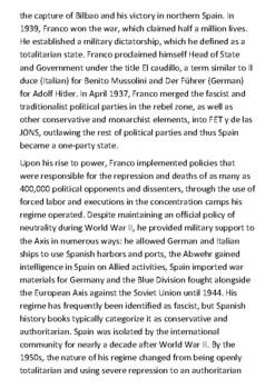 Francisco Franco Bahamonde Handout