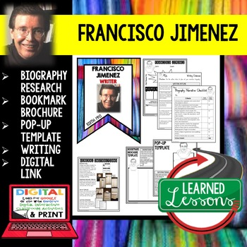 Francisco Jimenez Biography Research, Bookmark Brochure, Pop-Up, Writing