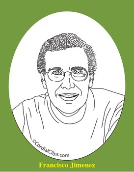 Francisco Jimenez Realistic Clip Art, Coloring Page, and Poster