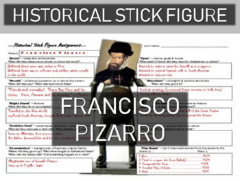 Francisco Pizarro Historical Stick Figure (Mini-biography)