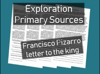 Francisco Pizarro Letter DBQ - Primary Source Document with guiding questions